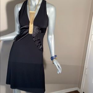 Morgan & Co Black Backless Dress
